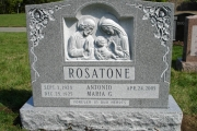 Sculpted headstone - grey granite
