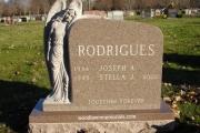 Angel headstone - St. Mary's Cemetery, Tewksbury, MA