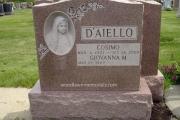 Blessed Mother carved in Memory Rose granite - Woodlawn Cemetery, Everett, Massachusetts