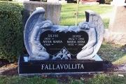 double angel headstone - Everett, MA