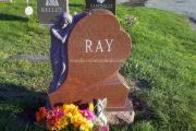 angel statue headstone - Woodbrook Cemetery, Woburn, MA