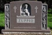 Sculpted Holy Mary family gravestone