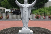Risen Christ statue - Holy family church - Lynn MA