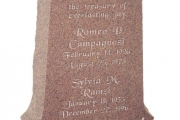 headstone in Memory Rose Granite - Watertown, MA
