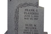 unpolished headstones - Topsfield, Massachusetts
