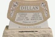 Double lot headstone - Salem Massachusetts