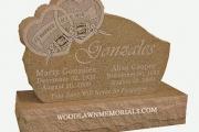 Unique headstones - Woodlawn Memorial