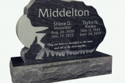 Gravestone design for two - Forest Glade Cemetery, Wakefield, Massachusetts