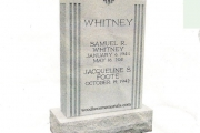 Whitney headstone - Randolph Massachusetts