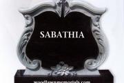 black granite carved in custom shape - Boston MA