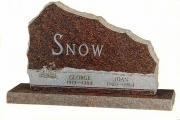 snow - Mahogany granite - Wellesley, MA