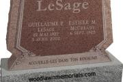 Lesage headstone - Newburyport Massachusetts
