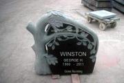 single grave tree shape headstone - Atkinson New Hampshire