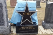 star shaped headstone