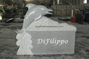 Dolphin headstone - Manchester by the Sea