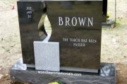 open air candle gravestone, Lynn, MA