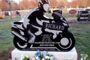 motorcycle monument headstone