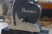 Dolphin headstone design - Hingham Massachusetts