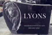 Lion-headstone