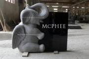 unique elephant carved in granite