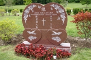 Chinese headstone design - Forest Hills Cemetery Boston