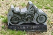 motorcycle shape headstone
