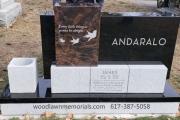Unique family headstone erected in Lakeside Cemetery, Wakefield, MA