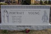 family plot headstone - Woodlawn Cemetery, Everett Massachusetts