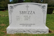 4 person gravestone in all steel (unpolished) finish