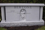 estate headstone design - Woodlawn Cemetery Everett Massachusetts