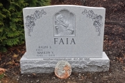 4 plot headstone design