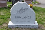 steel finish headstone - Melrose Massachusetts