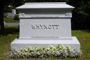 Whynott headstone - Woodlawn Cemetery, Everett MA