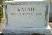 2 grave lot headstone with Apex top