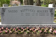 headstone with 3 family names