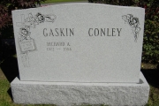 Two family names on headstone