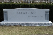 unpolished headstone for 8 burials - Woodlawn Cemetery, Everett, MA