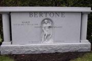 estate headstone design - Woodlawn Cemetery Everett Massachusetts