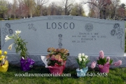 Large cemetery lot headstone