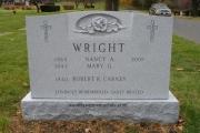 4' unpolished gravestone design with sculpted rose - Everett Massachusetts