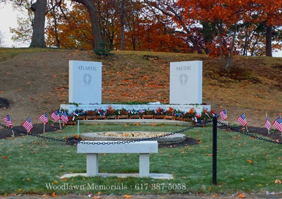 Melrose World War II Monument - dedicated November 11, 2017